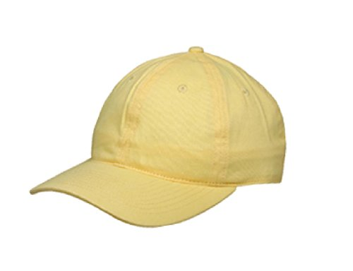 LUV -New Light Weight Brushed Cotton 6 panel pastel colors Caps (LUV 006 YELLOW) -