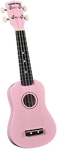 Pink Cutaway Acoustic Guitar (Diamond Head DU-110 Rainbow Soprano Ukulele - Pink)