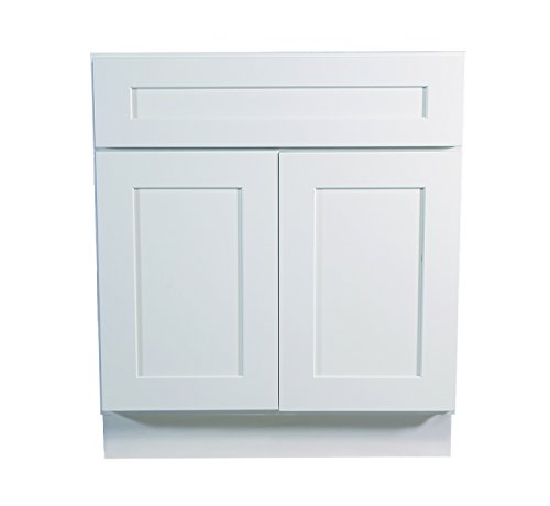 Design House Brookings 30-Inch Base Cabinet, White Shaker
