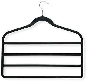 Multi-Purpose Velvet Hangers (5) - Scarf, Jewellery, Tie, Pants, Accessory Holder - for Men and Women - black non-slip surface - Perfect Closet Organiser