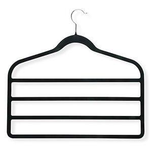 - Multi-Purpose Velvet Hangers (5) - Scarf, Jewelry, Tie, Pants, Accessory Holder - for Men and Women - black non-slip surface - Perfect Closet Organizer