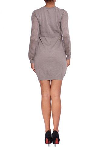 Anta Q'ulqi De Beige Robe En Tricot Pour Les Femmes
