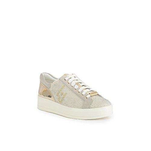 10602 B18019T2030 White fdo in collezione camoscio Liu estate nuova Jo Sneakers strass e rose con 2018 primavera a pelle pieni cassetta CtCqAnEwF