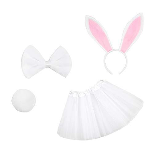 Leaf&Brunny Korte rok voor kinderen, netstof, rok, meisjes, paaskleding voor dag en feest, wit