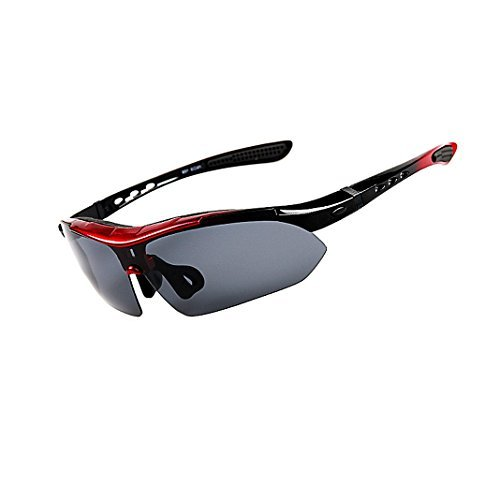 Polarized Sports Sunglasses, Rosa Schleife UV Protection Sports Unisex Goggles with 5 Sets Interchangeable Lenses Eyewear Glasses Designed for Men and Women in Sports and Outdoors - Uk Sunglasses Cycling Bifocal