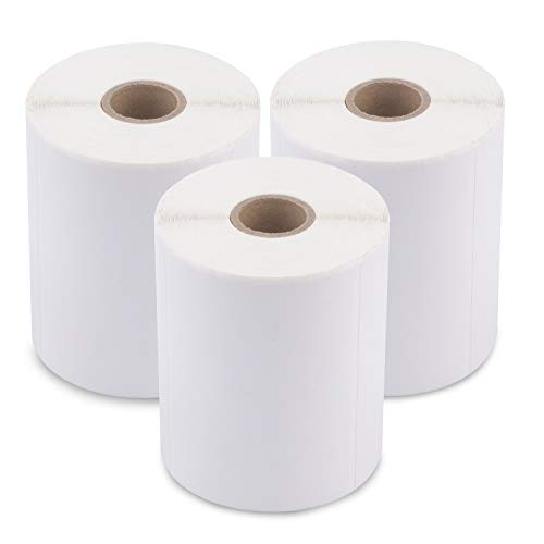 [3 Rolls / 1500 Labels] 4 x 3 Direct Thermal Address Mailing Shipping Barcode FBA Stickers FN SKU Labels for Zebra/Eltron (Perforated & Permanent Adhesive)