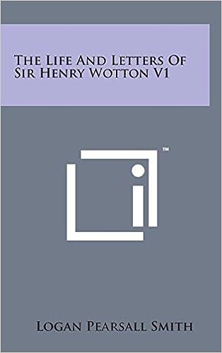 Livre en anglais gratuit à téléchargerThe Life and Letters of Sir Henry Wotton V1 1498166237 PDF CHM