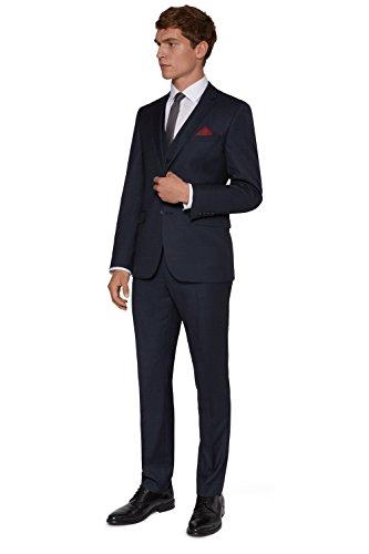 DKNY Men's Slim Fit Navy Birdseye Suit Jacket 40L Blue (Birdseye Suit Jacket)