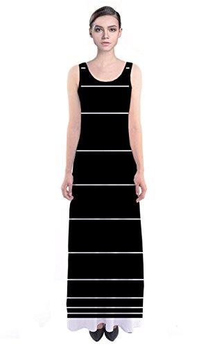 cowcow vestido de mujer Multicolor Negro y Blanco - Black and White Chunky