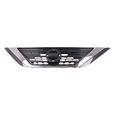 - New Front Grille For 2016-2018 Nissan Altima Silver Gray With Chrome Molding Made Of ABS Plastic NI1200283