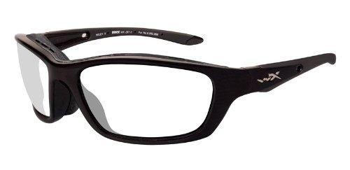 Wiley X BRICK Clear Lenses/Gloss Black Frames (853)