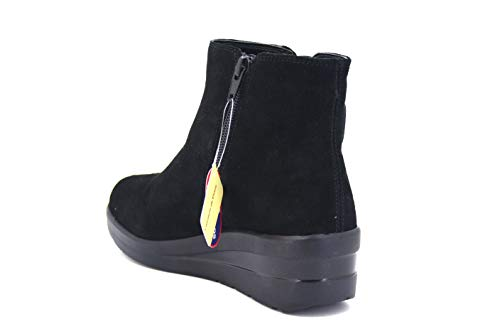 as Cinzia Made Soft 001 Pelle Scarpa Memory In Foam Tronchetto Iv6021 Black Donna Italy Nero PErPx4qfA