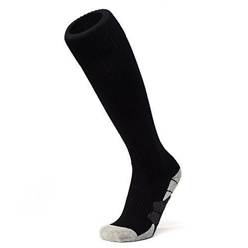 APTESOL Youth Knee High Long Athletic Socks Soccer & Football Compression Socks (for (Youth Nylon Pro Football Sock)