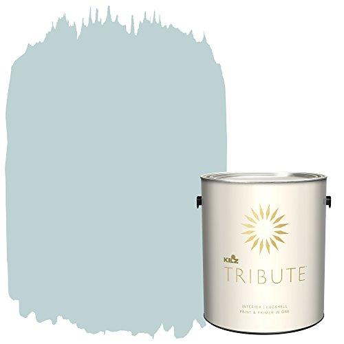 KILZ TRIBUTE Interior Eggshell Paint and Primer in One, 1 Gallon, Almost Aqua (TB-52)