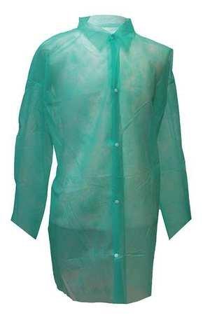 Disposable Lab Coat, 2XL, Green, PK30