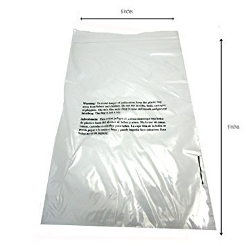 Self Sealing Clear Poly Bags - Suffocation Warning Bags - 1.5mil for FBA - 6 x 9 Pack of 100, 500, or 1000 Bags (1000 Bags)
