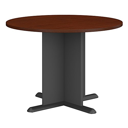 Bush Business Furniture Series A & C 42 Inch Round Conference Table in (Mahogany Office Table)