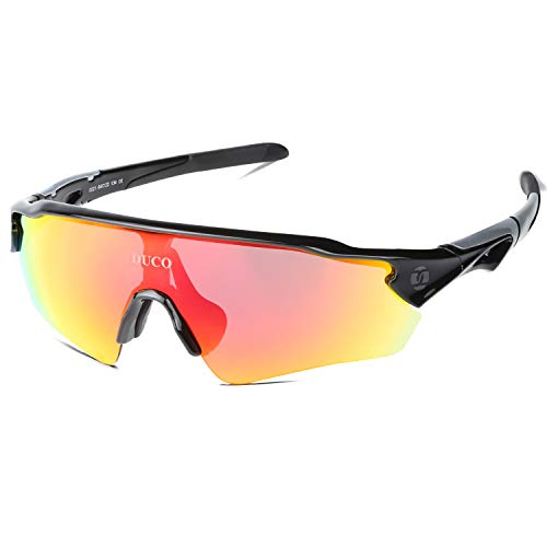 8374c5849b DUCO Cycling Sports Polarized Sunglasses with 5 Interchangeable Lenes for  Men Women 0021