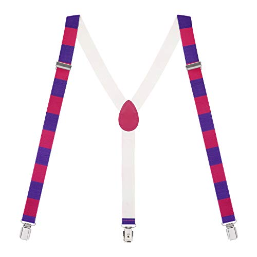 - HDE Y-Back Suspenders for Men Clip On Adjustable Elastic 1
