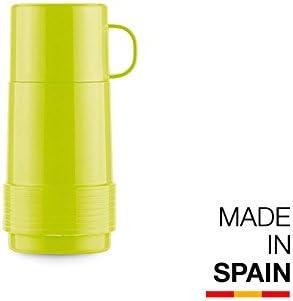 Valira Colección 1969 - Botella de vidrio aislante de doble pared con vacío de 0,25 L hecha en España, color verde