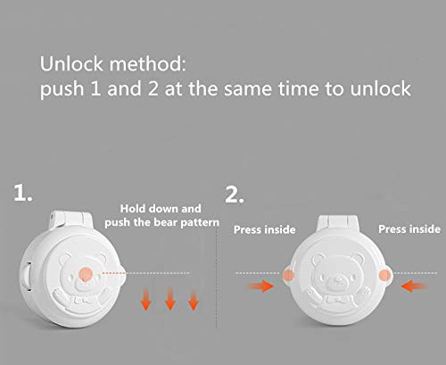 YICANG 2 Pcs Child Security Protection Electrical Switch Button Protection Cover for Home Kitchen Oven Gas Cooker Knob Button Control Switch Safety Locks