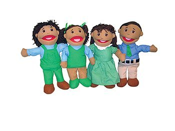 Latino Family Puppets, (Set of 4) (Family Big Mouth Puppets)