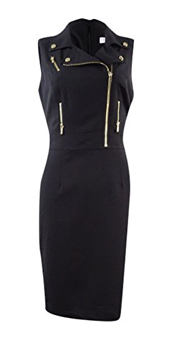 Zip Front Sheath Dress - 7