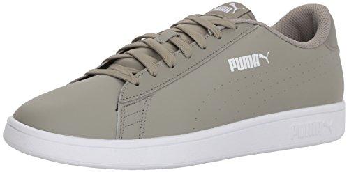 - PUMA Men's Smash Leather Perf Sneaker, Rock Ridge, 10 M US