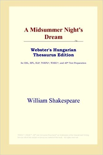 Book A Midsummer Night's Dream (Webster's Hungarian Thesaurus Edition)