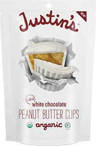 JUSTINS NUT BUTTER PEANUT BUTTR CUP Organic White Minis Pack of 6, Size 4.7 OZ