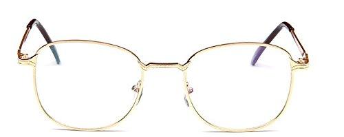 vendimia metal gafas las o de la estudiante la tee de manera llano dise Embryform espejo de marco gafa Dorado montura de del espejo de zpwq8wI5