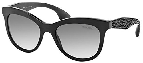 Miu Miu 10PS 1AB0A7 Black 10PS Cats Eyes Sunglasses Lens Category - Sunglasses Cats Miu Eye Miu