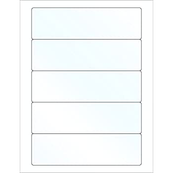 "Amazon.Com : 8"" X 2.5"" Bottle Labels (100 Sheets) - White Matte"
