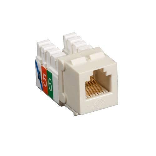 Single-Pack Usoc RJ-11 Jack Office White Black Box FMT243 Pack of 25 pcs
