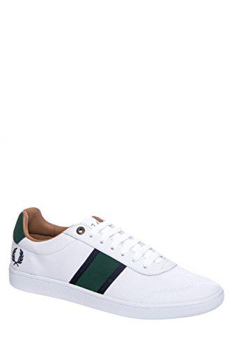 Fred Perry Men's Sebright Canvas Fashion Sneaker,White/Tartan Green,11 UK/12 M US