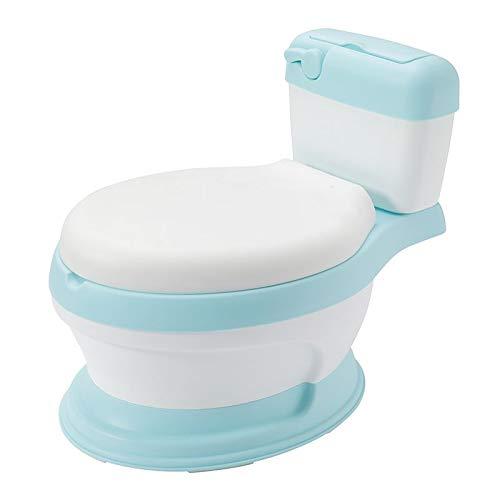 Babyhugs - Orinal de entrenamiento con forma de inodoro para niños, color azul