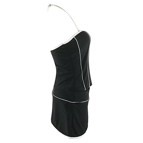 SZH Negro Y Blanco De Las Mujeres De 3 Traje De Baño Beachwear Bikini No Rims