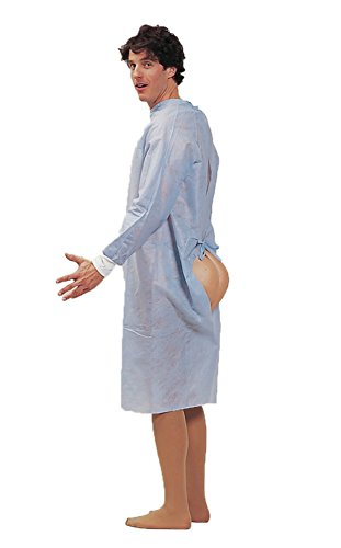 Forum Novelties Mens Funny Hospital Gown Patient Hind Sight Butt Party Costume, One Size