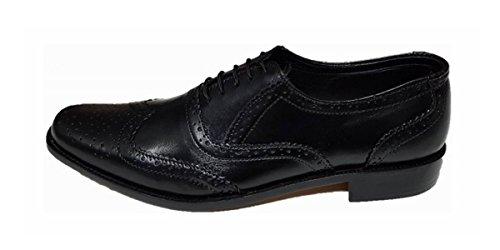Shumaxx L02-leatherbrogue-black, Scarpe stringate uomo nero Black, nero (Black), 40 EU