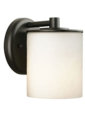 Forecast Lighting F8499-19 Midnight One-Light Exterior Wall Light with Etched White Opal Glass