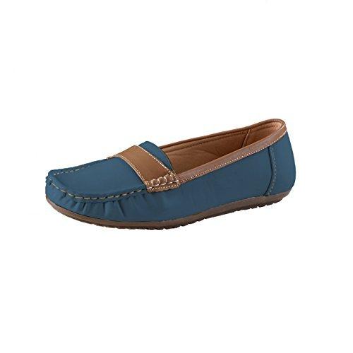 HSM schuhmarketing LISANNE Comfort Mujer Mocasines, Azul: Amazon.es: Zapatos y complementos