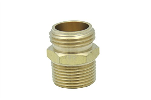 LTWFITTING 3/4'' MHT x 3/4'' MIP Brass Hose Adapter ,Garden Hose Fitting(Pack of 150)