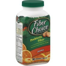 Fiber Choice Fiber Supplement, Regular Orange Chewable Tablets 90 ea (Pack of 2)