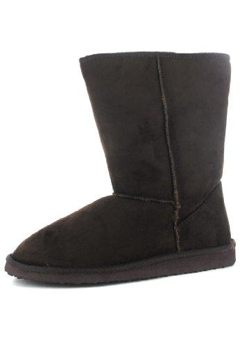 Andres Machado Damen Boots - Braun Schuhe in Übergrößen