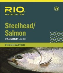 RIO Fly Fishing Salmon/Steelhead 9' 12Lb Leaders (Pack 3), Glacial Green