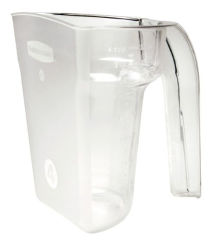 Rubbermaid Commercial FG9G5200CLR Safety Portioning Scoop for Sliding Lid, 3-Cup Capacity, Clear