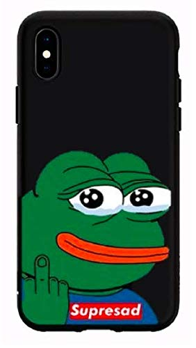 Art Design Funda iPhone X/iPhone XS Supersad Fuck You Kermit ...