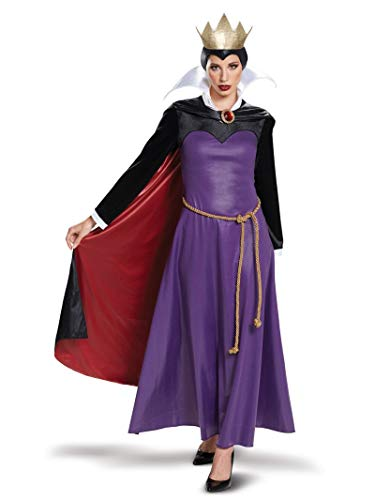Disguise Women's Evil Queen Deluxe Adult Costume, Purple, S (4-6) (Snow White And The Evil Queen Costume)