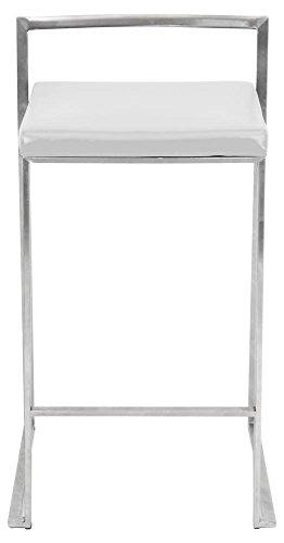 WOYBR CS W2 Pu Leather, Stainless Steel Fuji Counter Stool (Set of 2) 31