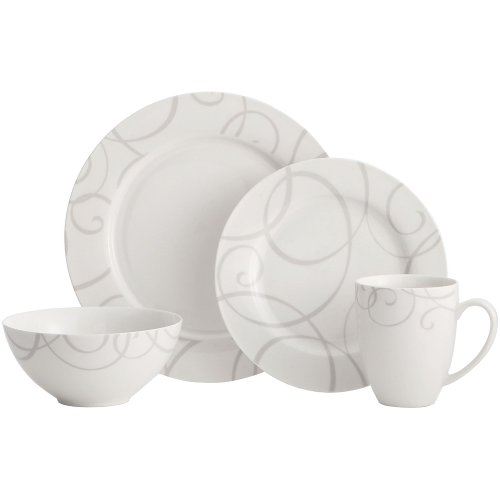 White 8.25' Salad (Symphony Grey 16 Piece Dinnerware Set)